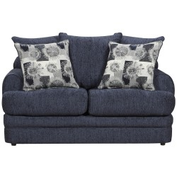 Caliber Navy Chenille Loveseat