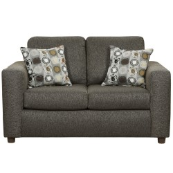 Vivid Onyx Fabric Loveseat