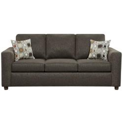 Vivid Onyx Fabric Sofa