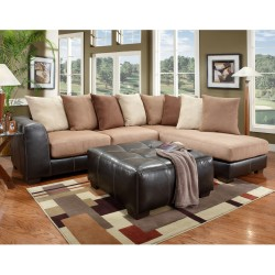 Sea Rider Saddle Microfiber L-Shaped Sectional