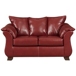 Sierra Red Leather Loveseat