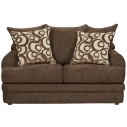 Caliber Walnut Chenille Loveseat
