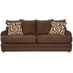 Caliber Walnut Chenille Sofa