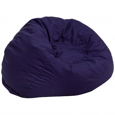 Oversized Solid Navy Blue Bean Bag Chair
