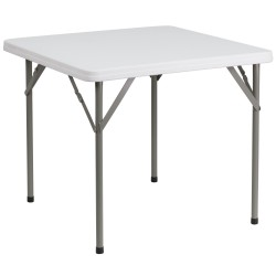 34'' Square Granite White Plastic Folding Table