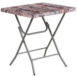 27'' Square Camouflage Plastic Folding Table