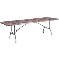 30''W x 96''L Bi-Fold Camouflage Plastic Folding Table