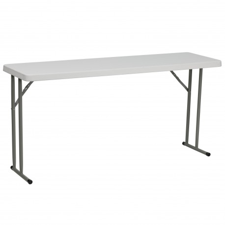 18''W x 60''L Granite White Plastic Folding Training Table