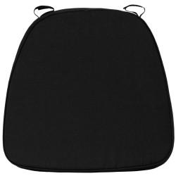 Soft Black Fabric Chiavari Bar Stool Cushion