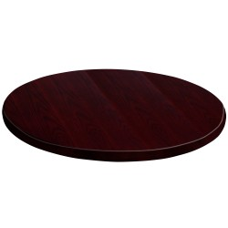24'' Round Mahogany Veneer Table Top