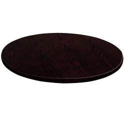 36'' Round Walnut Veneer Table Top