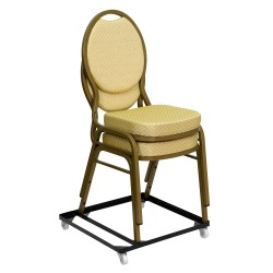 Steel Stack Chair and Church Chair Dolly