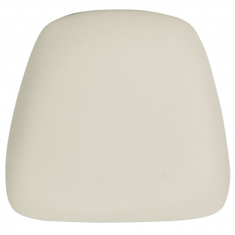 Hard Ivory Vinyl Chiavari Bar Stool Cushion