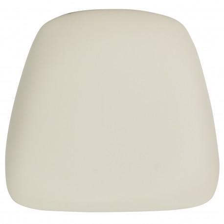 Hard Ivory Vinyl Chiavari Bar Stool Cushion
