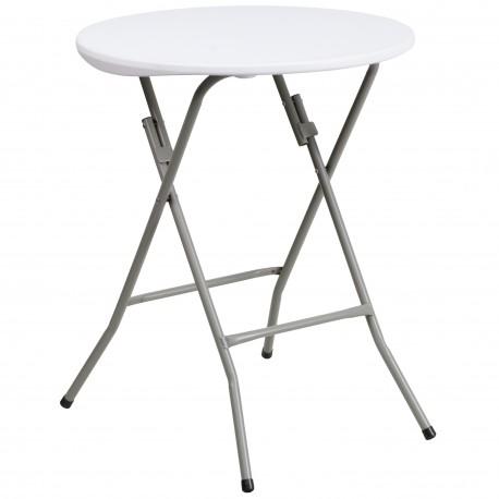 24'' Round Granite White Plastic Folding Table