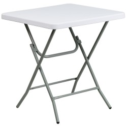 27'' Square Granite White Plastic Folding Table