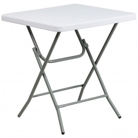 27'' Square Granite White Plastic Folding Table