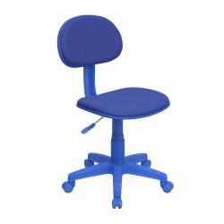 Blue Fabric Ergonomic Task Chair