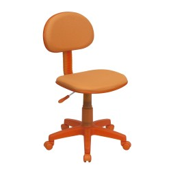 Orange Fabric Ergonomic Task Chair