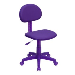 Purple Fabric Ergonomic Task Chair