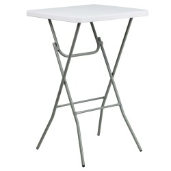 27'' Square Granite White Plastic Bar Height Folding Table