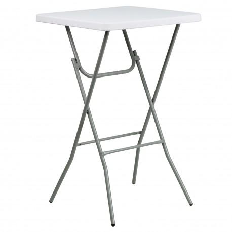 27'' Square Granite White Plastic Bar Height Folding Table