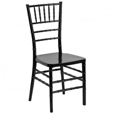 Black Resin Stacking Chiavari Chair