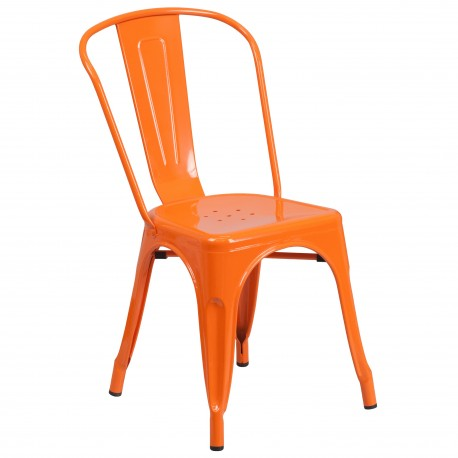 Orange Metal Chair