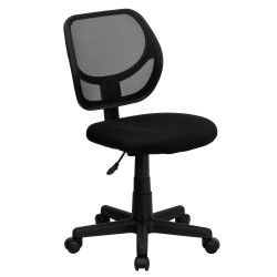 Mid-Back Black Mesh Task Chair and Computer Chair