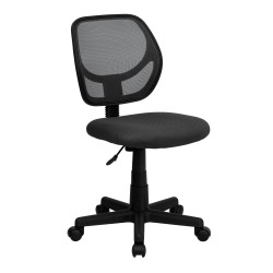 Mid-Back Gray Mesh Task Chair and Computer Chair