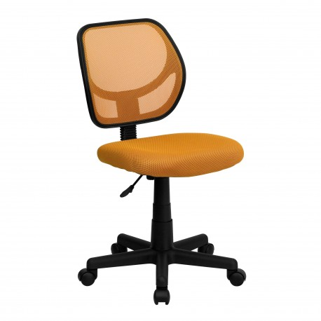 Mid-Back Orange Mesh Task Chair and Computer Chair