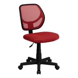 Mid-Back Red Mesh Task Chair and Computer Chair