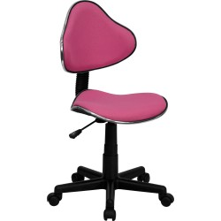 Pink Fabric Ergonomic Task Chair