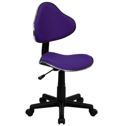 Purple Fabric Ergonomic Task Chair