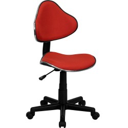 Red Fabric Ergonomic Task Chair