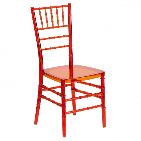 Friendly Elegance Crystal Crimson Stacking Chiavari Chair