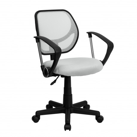 mid|back white mesh task chair and computer chair with arms