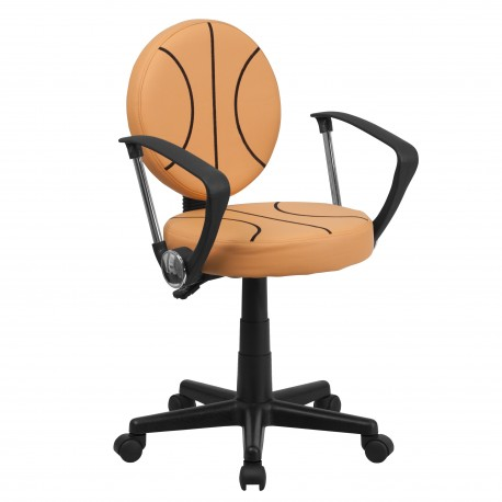 Basketball Task Chair with Arms