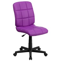 Mid-Back Purple Quilted Vinyl Task Chair
