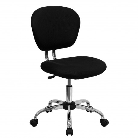 Mid-Back Black Mesh Task Chair with Chrome Base
