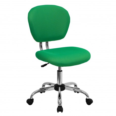 Mid-Back Bright Green Mesh Task Chair with Chrome Base