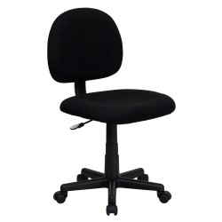 Mid-Back Ergonomic Black Fabric Task Chair