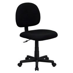 Mid-Back Ergonomic Black Fabric Task Chair