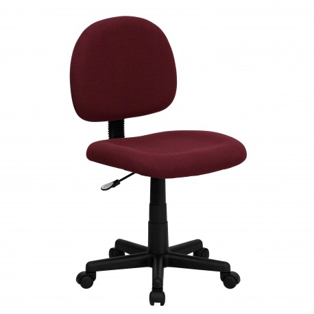 Mid-Back Ergonomic Burgundy Fabric Task Chair