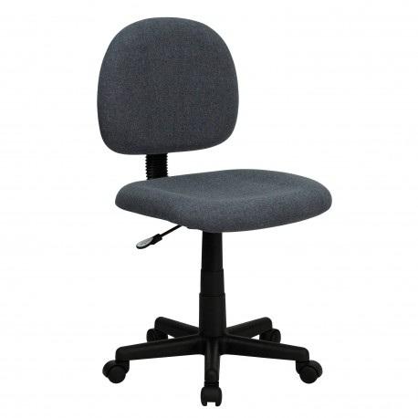 Mid-Back Ergonomic Gray Fabric Task Chair