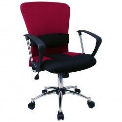 Mid-Back Burgundy Mesh Office Chair