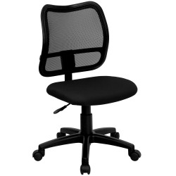 Mid-Back Mesh Task Chair with Black Fabric Seat