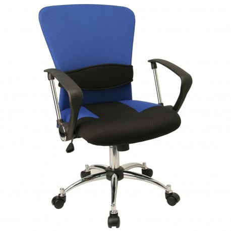 Mid-Back Blue Mesh Office Chair