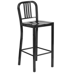 30'' Black Metal Bar Stool