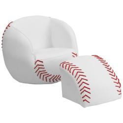 Kids Baseball Chair and Footstool